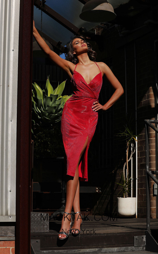 Jadore JX3049 Red Front Dress