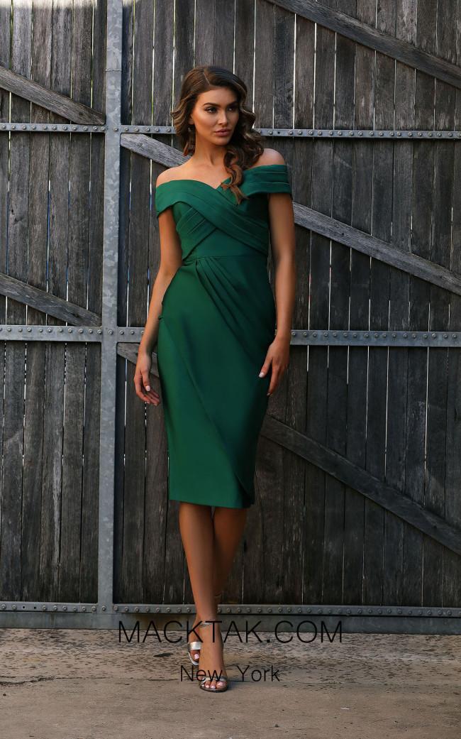 Jadore JX3050 Emerald Front Dress