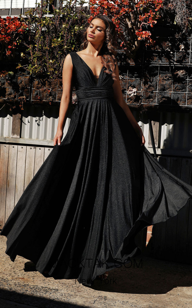 Jadore Australia JX3053 Black Front Dress