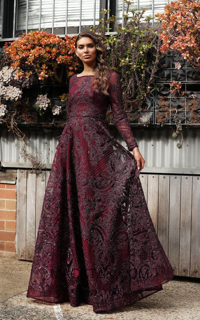 Jadore Australia JX3059 Plum Front Dress