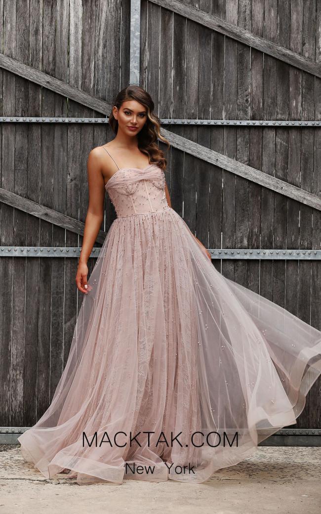 Jadore Australia JX3061 Dusty Lilac Front Dress