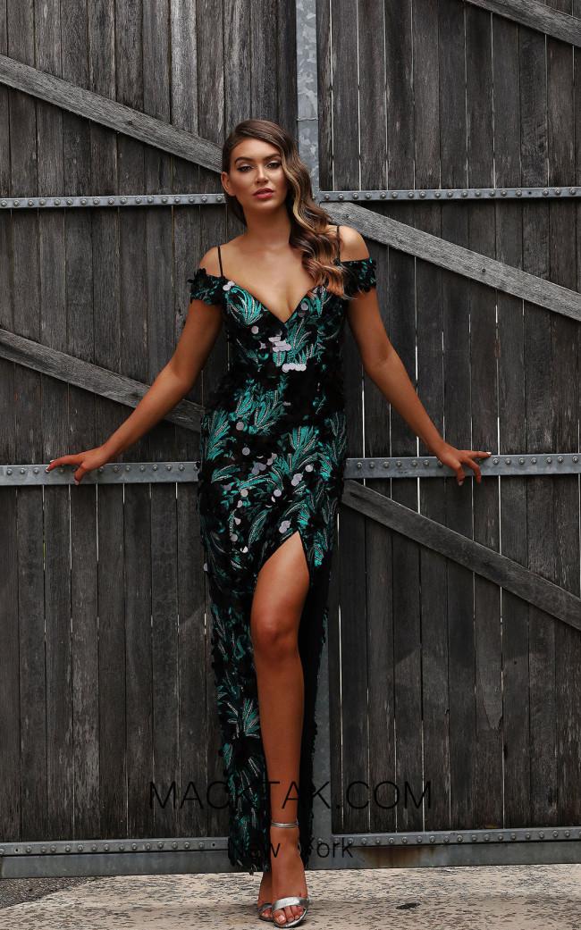 Jadore Australia JX3065 Emerald Front Dress
