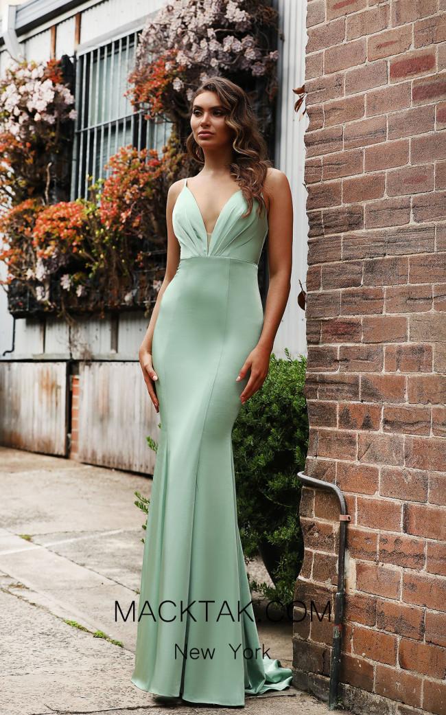 Jadore Australia JX3074 Sage Front Dress