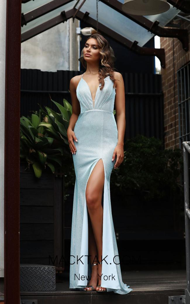 Jadore Australia JX3082 Baby Blue Front Dress
