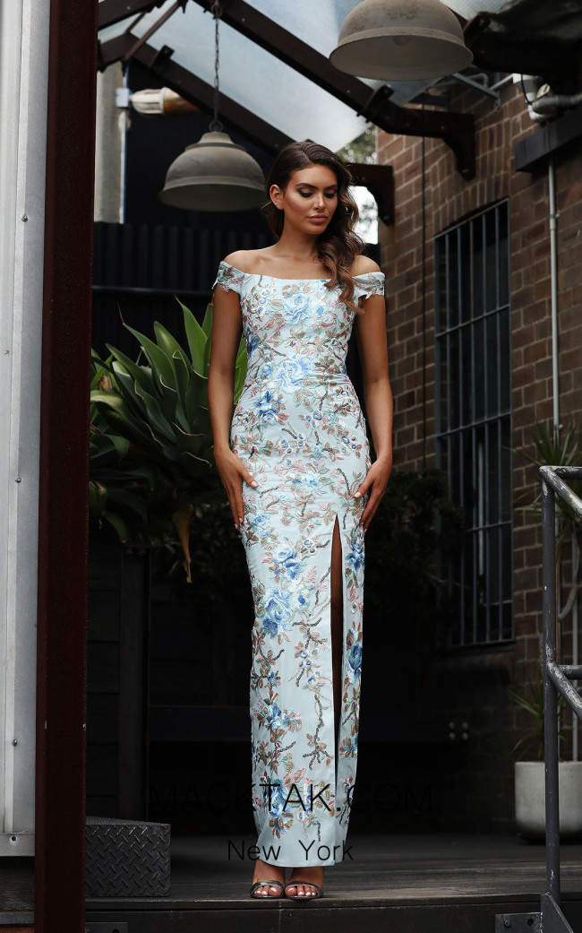 Jadore Australia JX3084 Sky Blue Front Dress