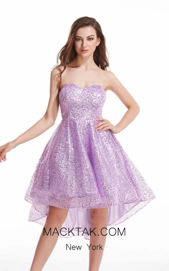 Jadore J12023 Lilac Front Dress