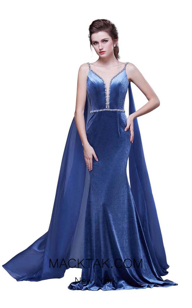 Jadore J13070 Blue Front Dress