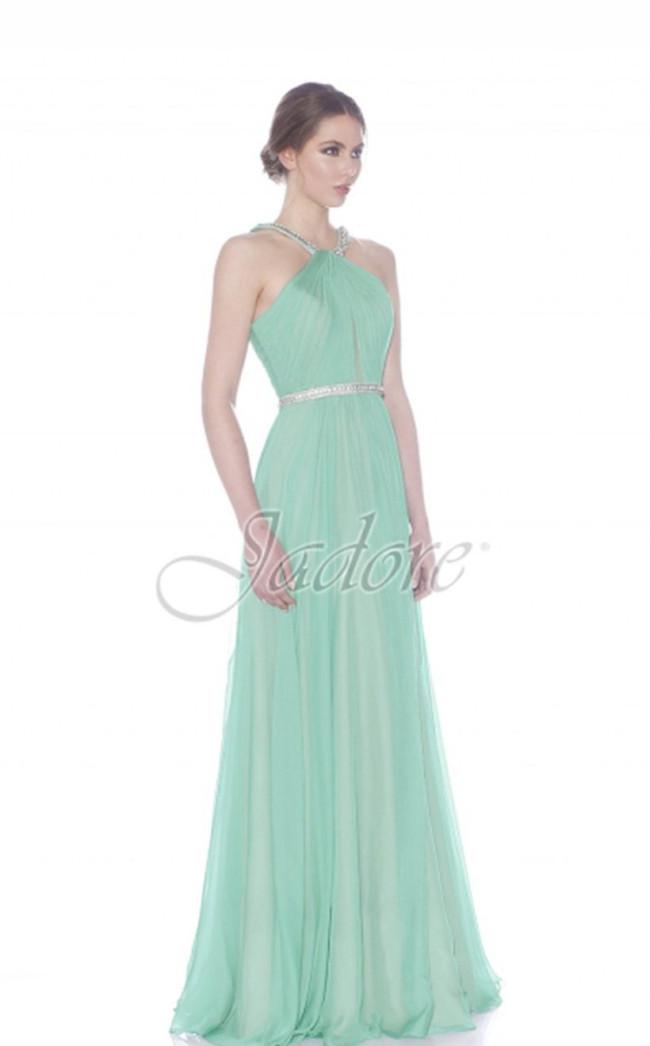 Jadore J7019 Aqua Front Dress