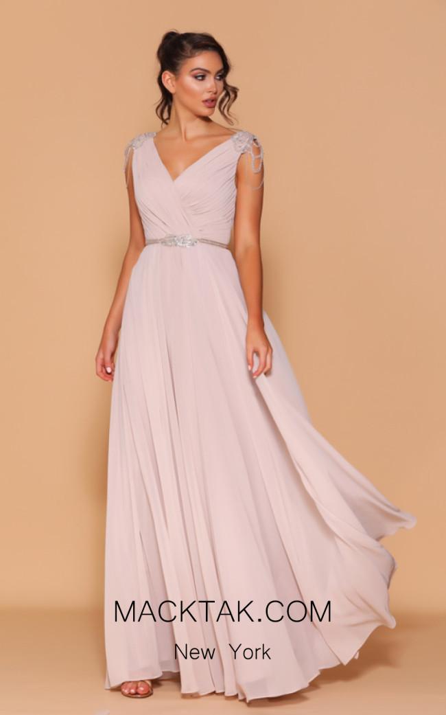 Jadore Les Demoiselle LD1062 Taupe Front Dress