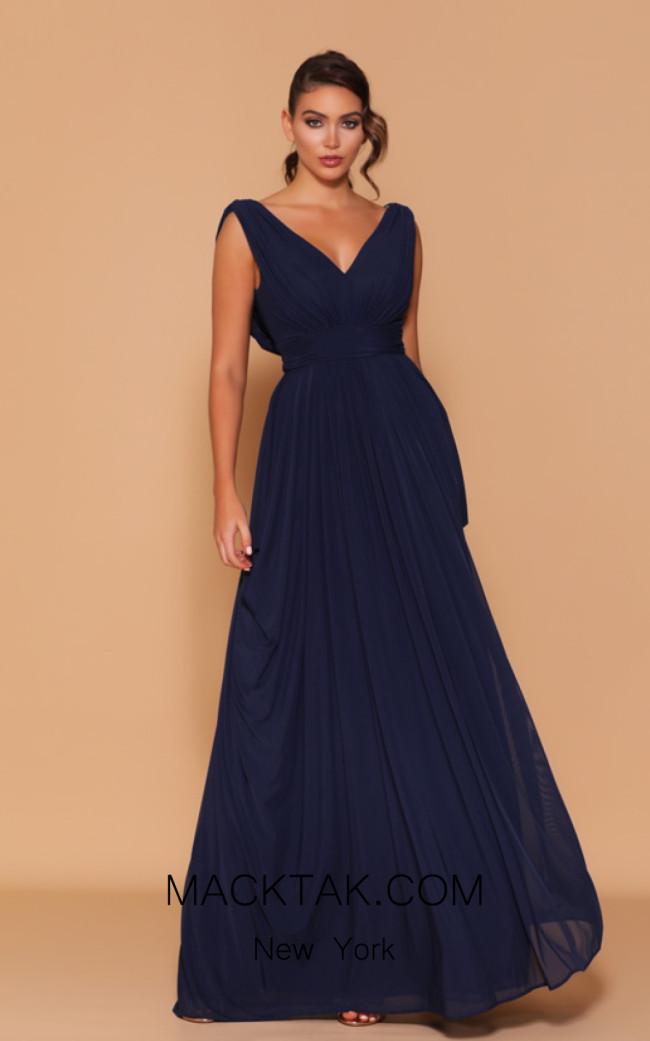 Jadore Les Demoiselle LD1102 Navy Front Dress