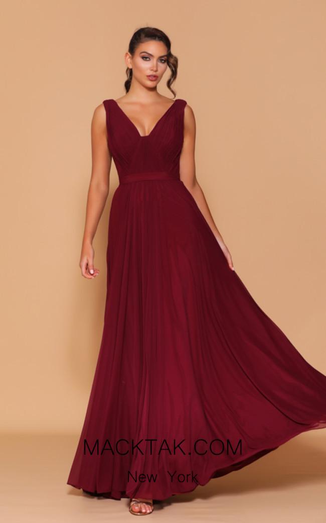 Jadore Les Demoiselle LD1105 Wine Front Dress
