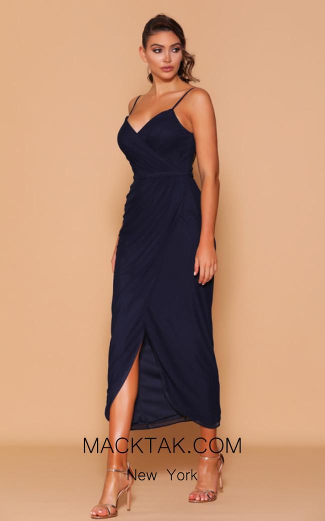 Jadore Les Demoiselle LD1095 Navy Front Dress