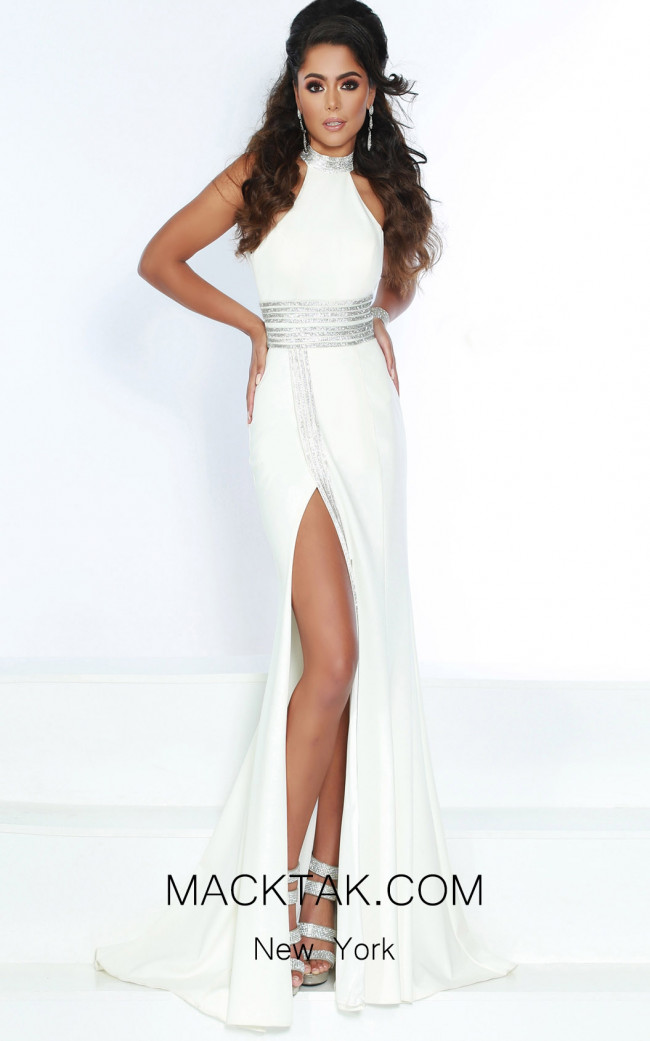 Jasz Couture 6417 Ivory Front Dress