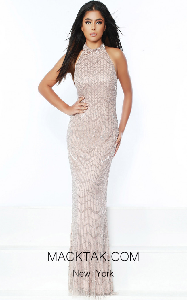 Jasz Couture 6445 Blush Front Dress