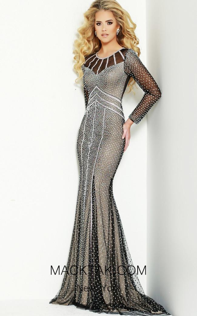 Jasz Couture 6447 Black Front Dress