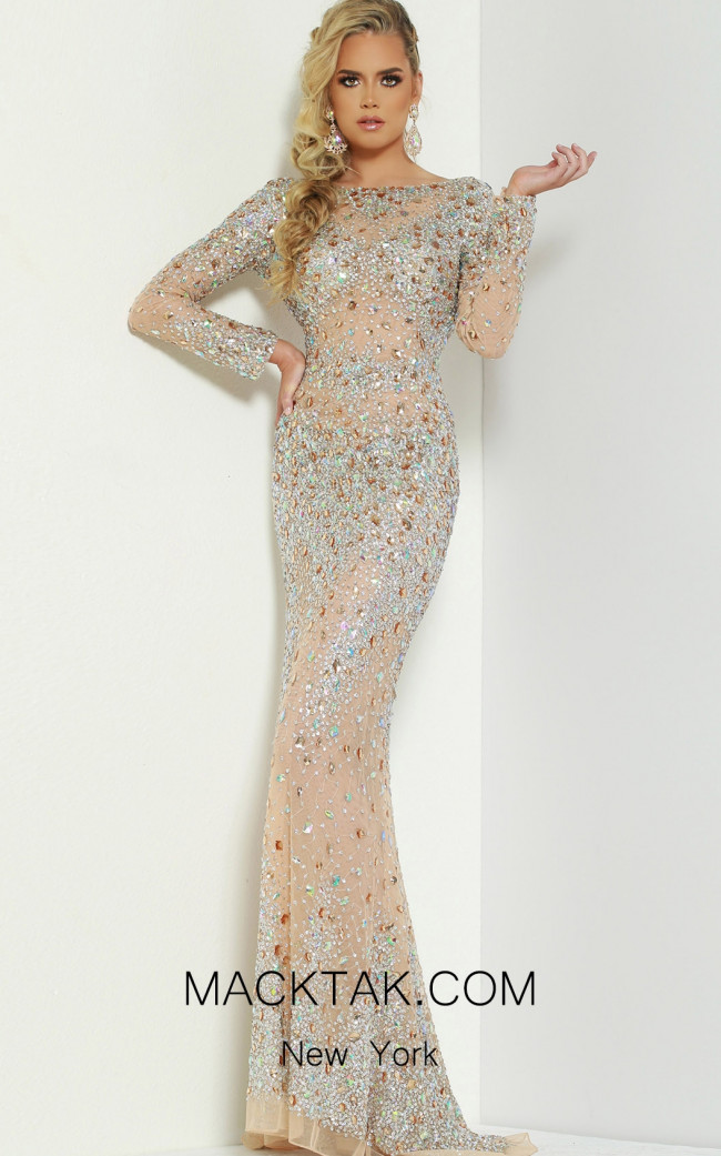 Jasz Couture 6455 Nude Front Dress