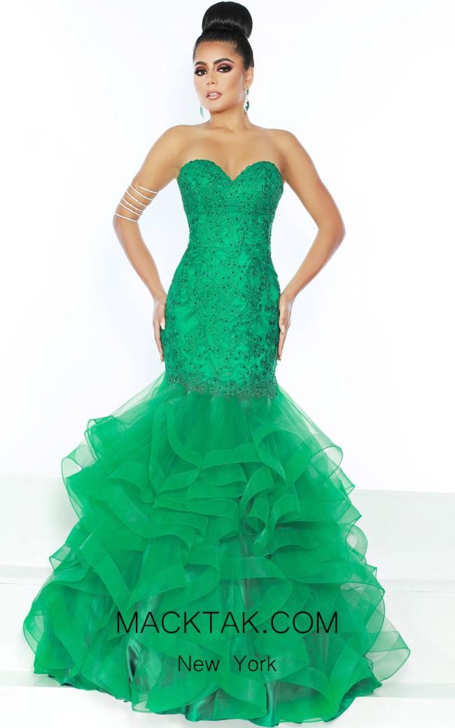 Jasz Couture 6471 Emerald Front Dress