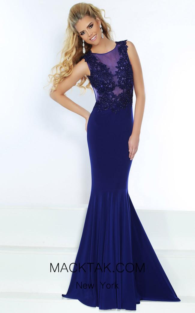 Jasz Couture 6474 Cobalt Front Dress