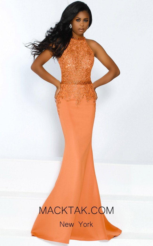 Jasz Couture 6480 Orange Front Dress