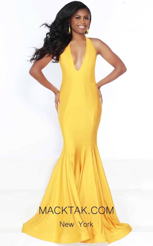 Jasz Couture 6487 ButterSCotch Front Dress