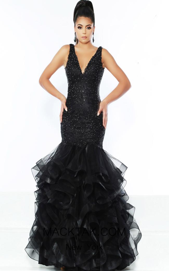 Jasz Couture 6518 Black Front Dress