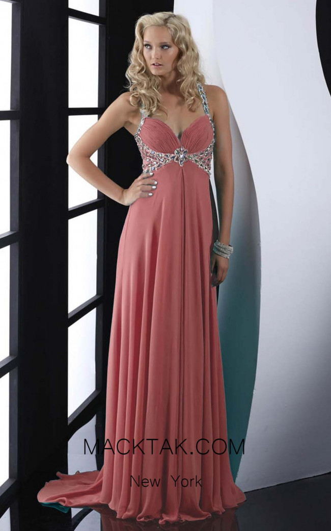 Jasz Couture Pink Front Dress