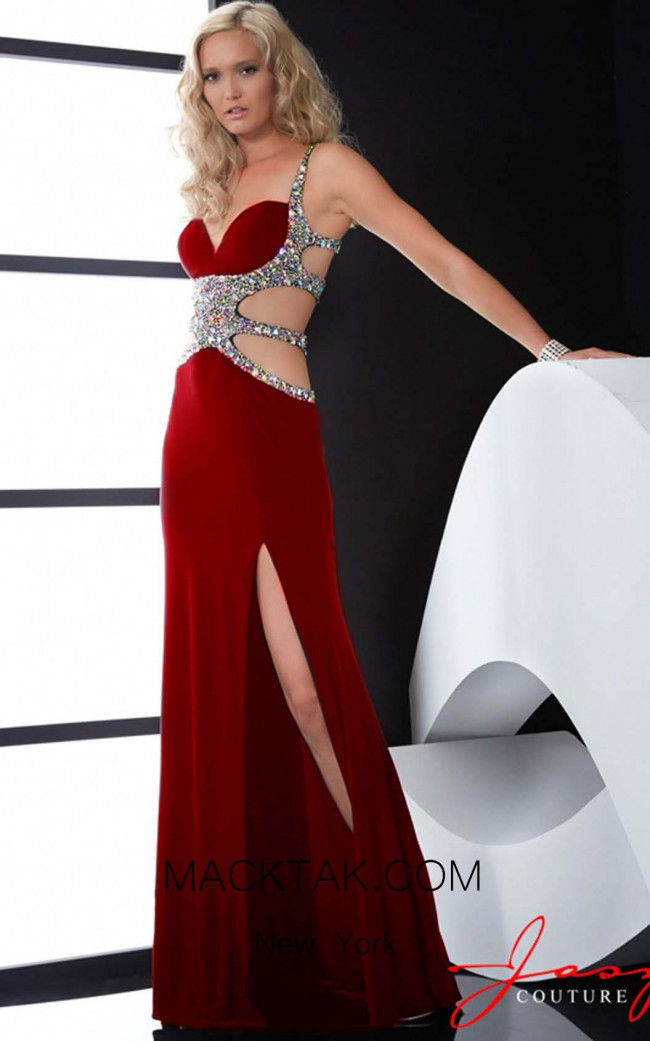 Jasz Couture 5035 Red Front Dress