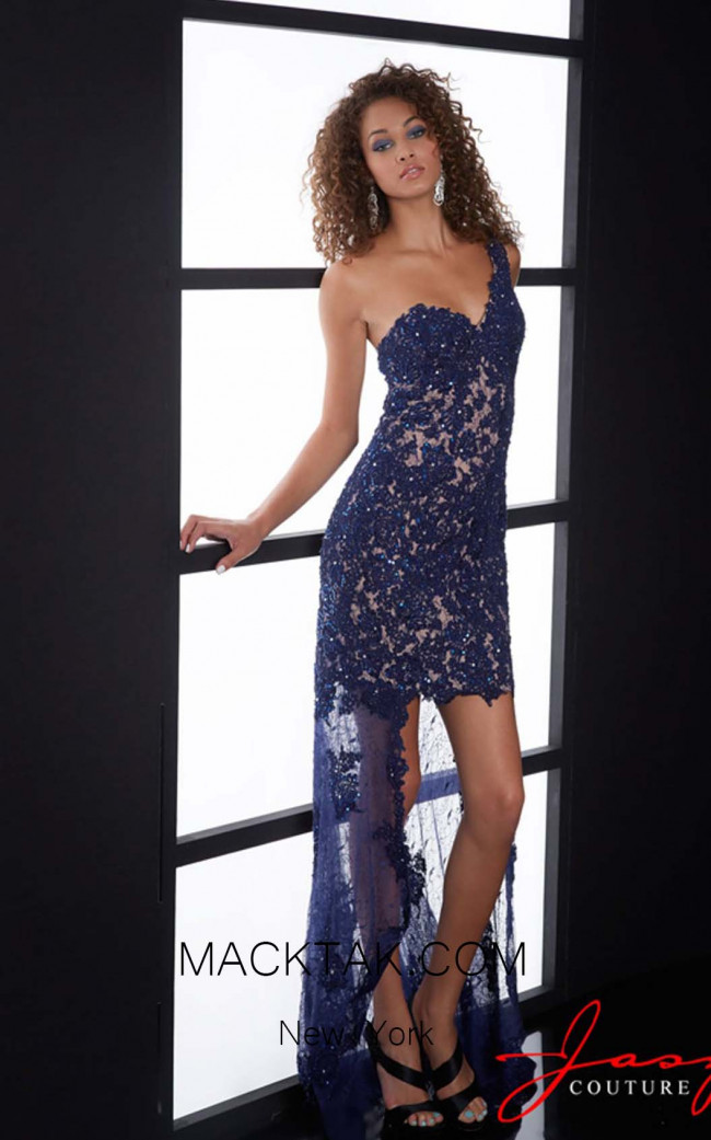 Jasz Couture 5078 Navy Front Dress