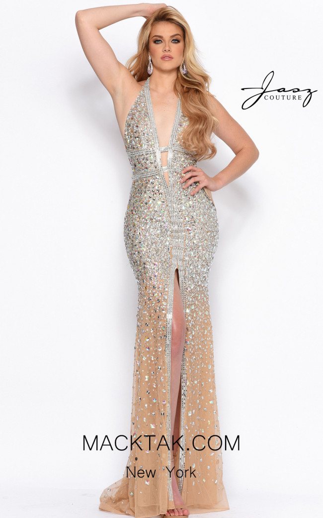 Jasz Couture 6999 Nude Front Dress