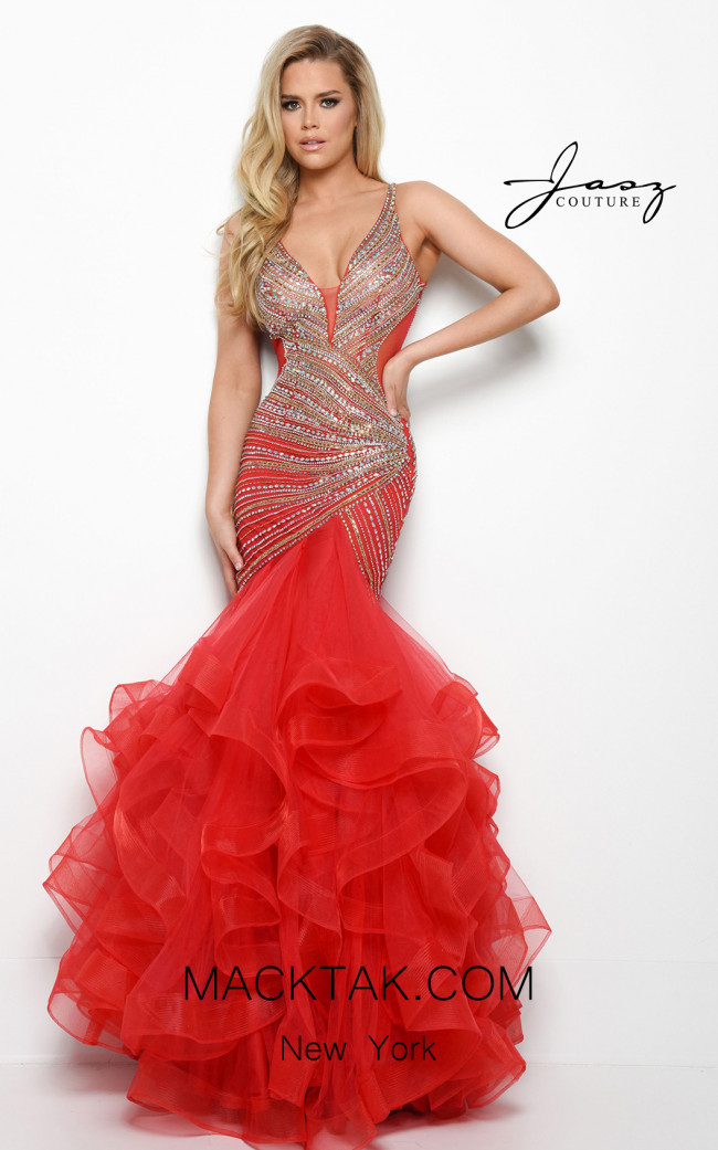 Jasz Couture 7000 Red Front Dress