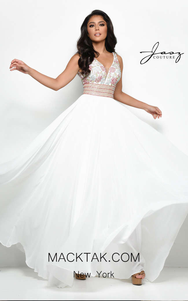 Jasz Couture 7009 Ivory Front Dress