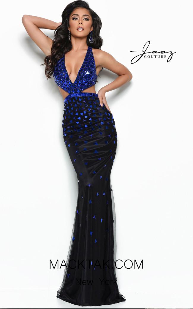 Jasz Couture 7010 Black Royal Front Dress