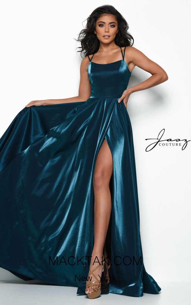 Jasz Couture 7015 Teal Front Dress