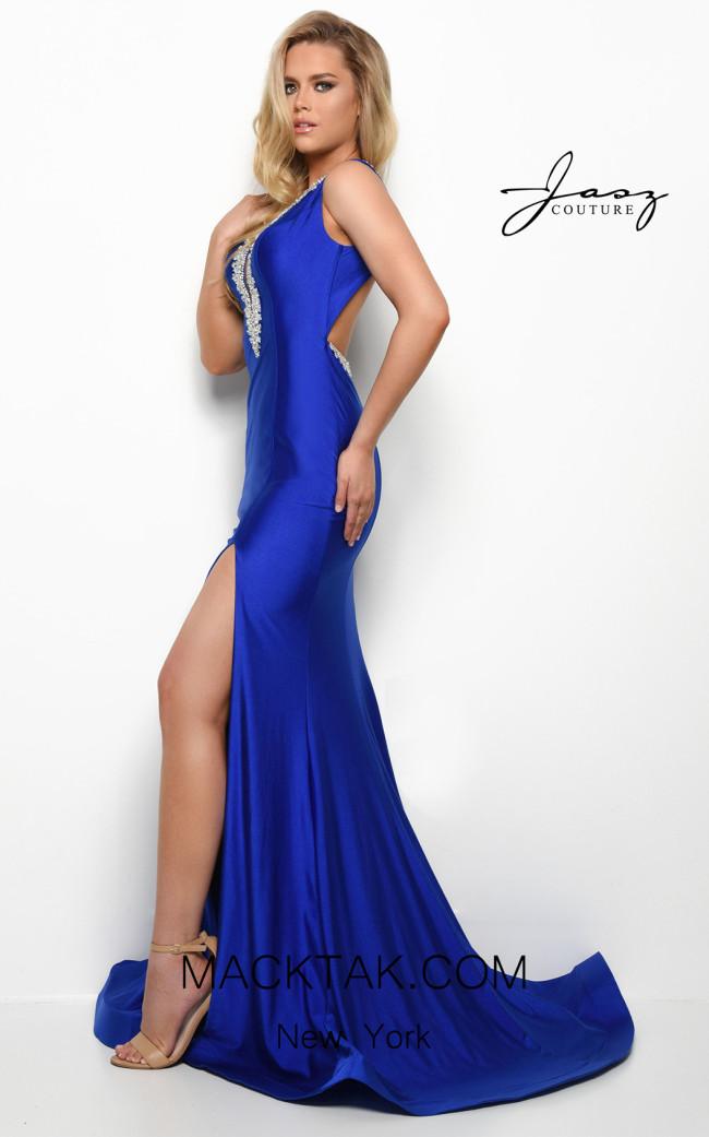 Jasz Couture 7016 Royal Side Dress