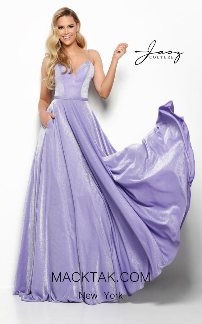 Jasz Couture 7019 Purple Front Dress