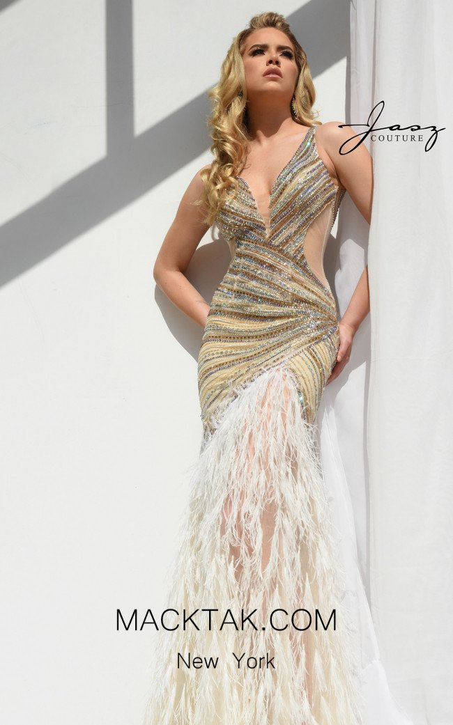 Jasz Couture 7021 Nude Front Dress
