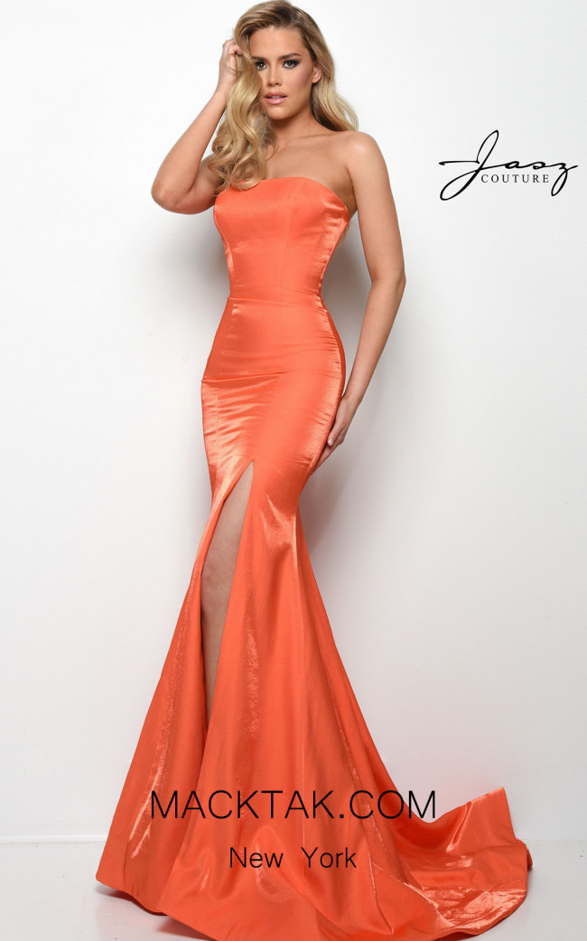 Jasz Couture 7035 Orange Front Dress