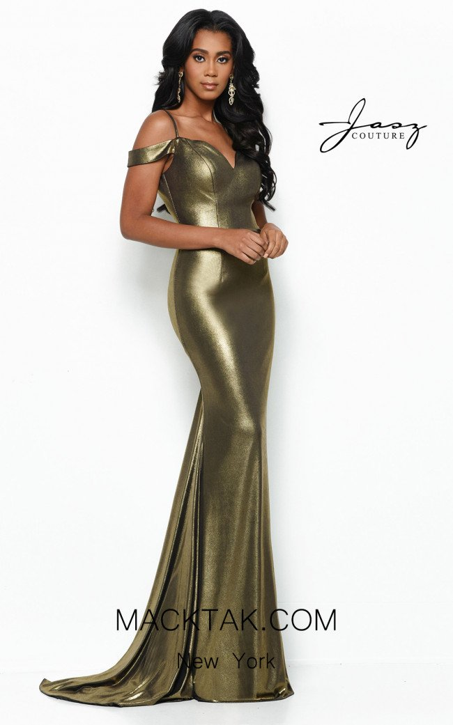 Jasz Couture 7043 Gold Front Dress