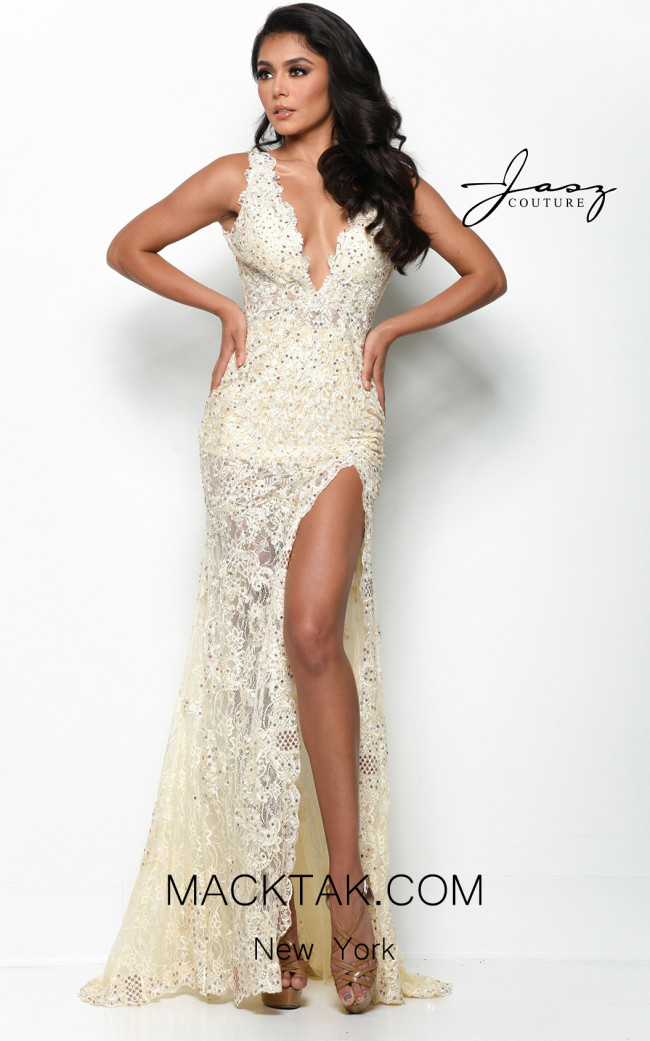 Jasz Couture 7051 Nude Front Dress