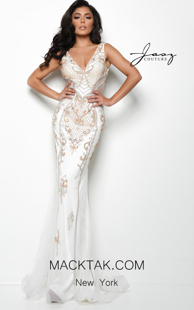 Jasz Couture 7053 Ivory Front Dress