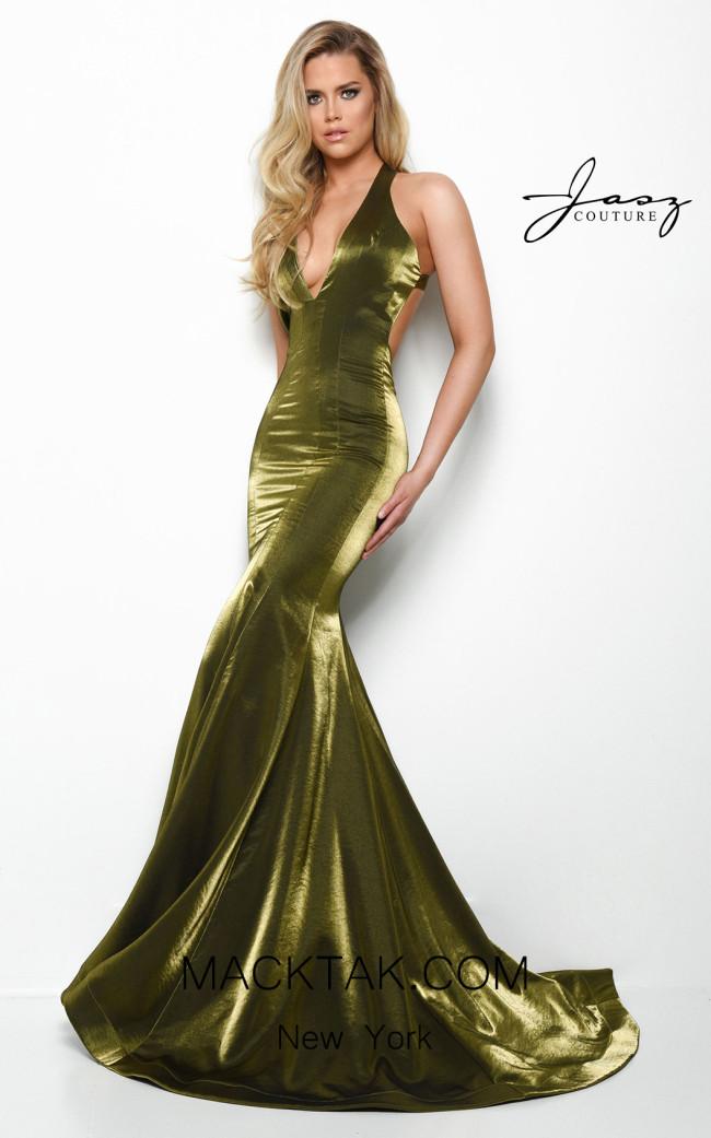 Jasz Couture 7061 Olive Front Dress