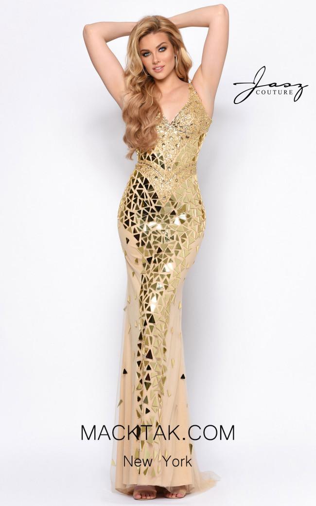 Jasz Couture 7084 Gold Front Dress