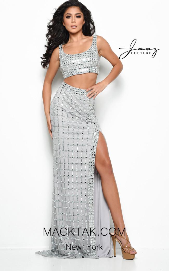Jasz Couture 7091 Silver Front Dress