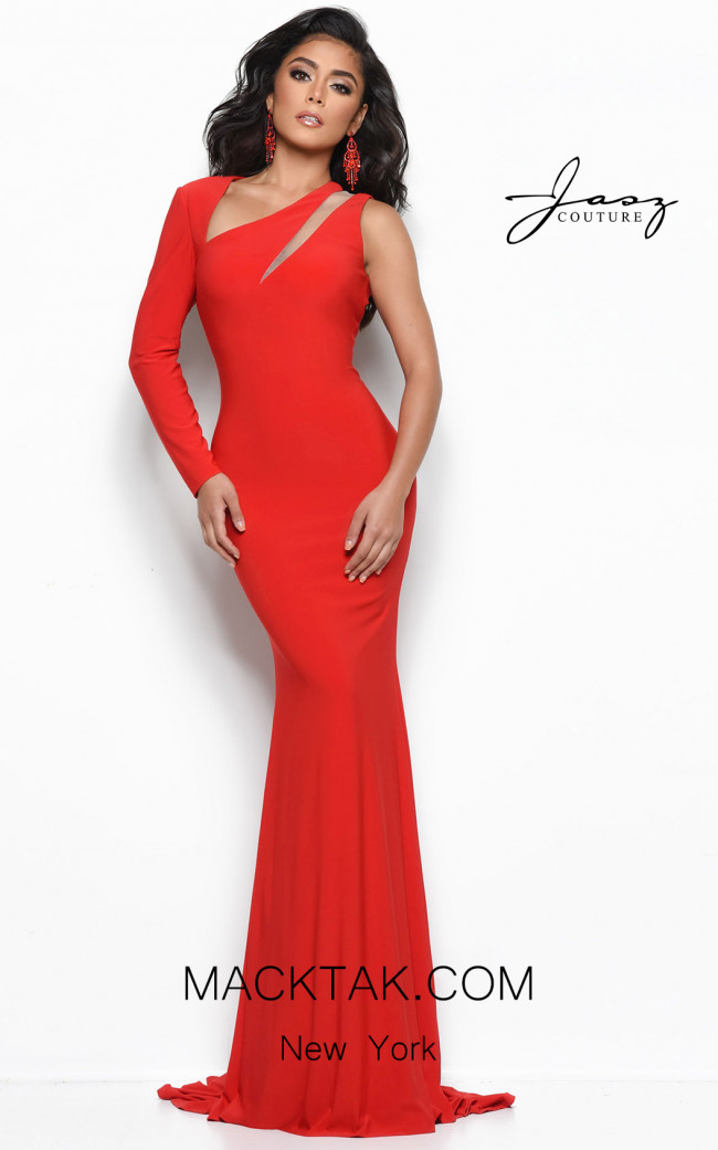 Jasz Couture 7092 Red Front Dress