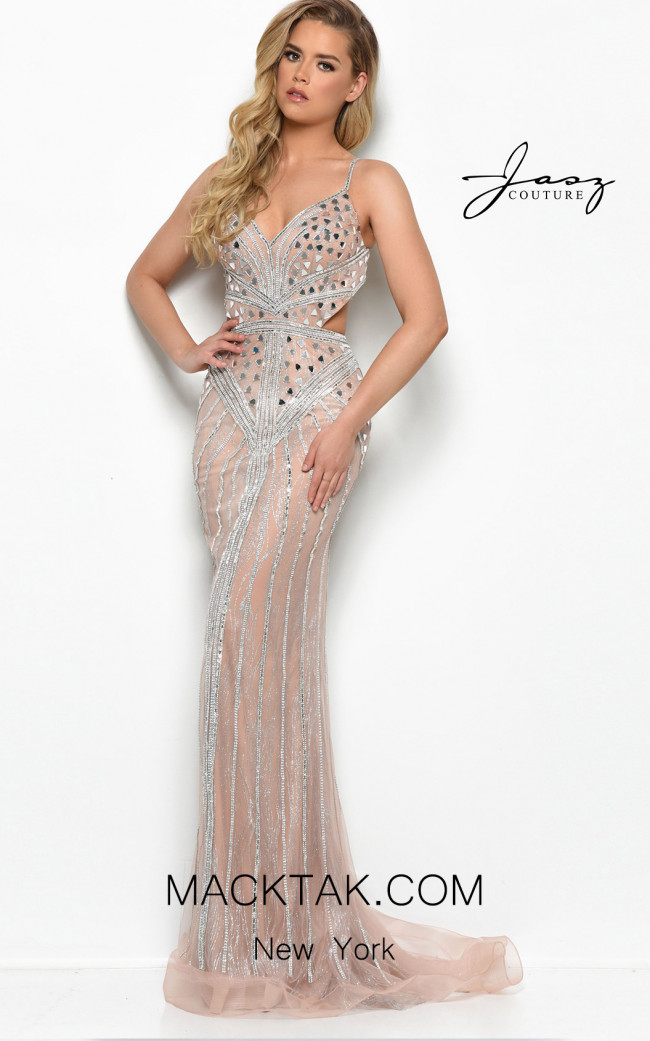 Jasz Couture 7102 Nude Front Dress