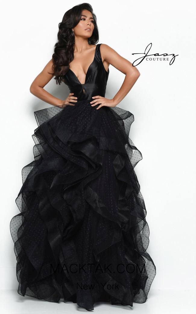 Jasz Couture 7106 Black Front Dress