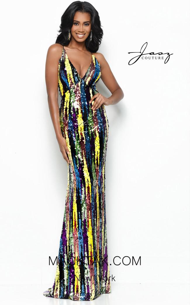 Jasz Couture 7110 Multi Front Dress