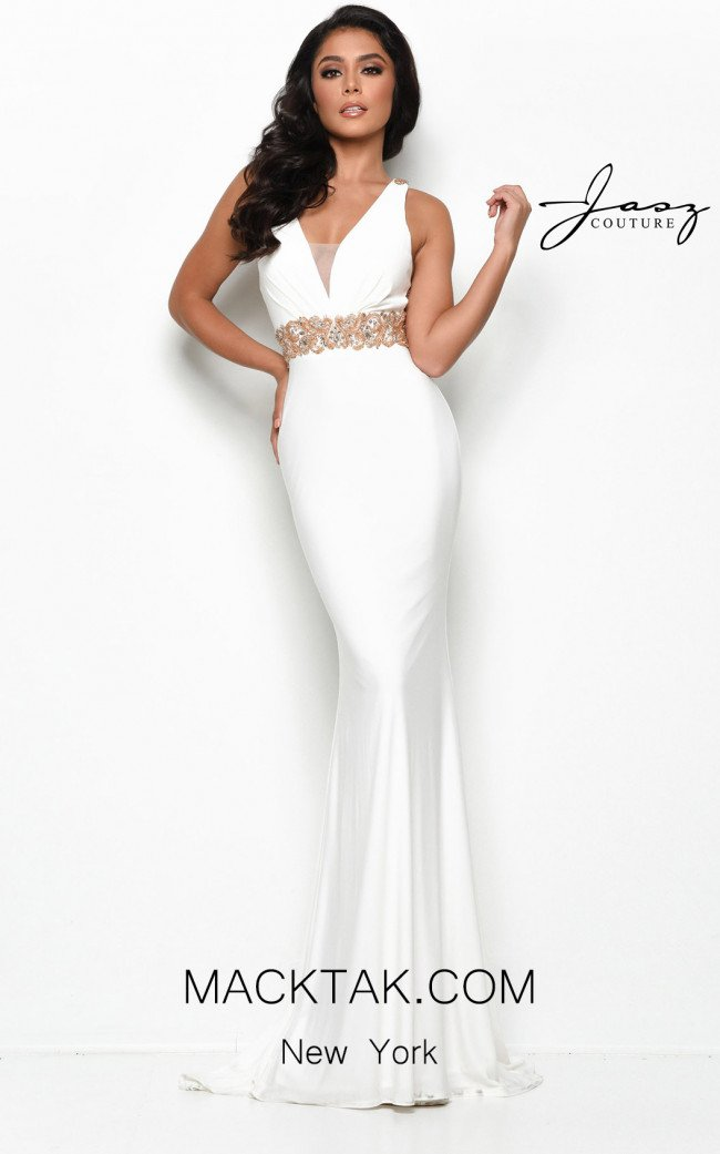 Jasz Couture 7119 Ivory Front Dress