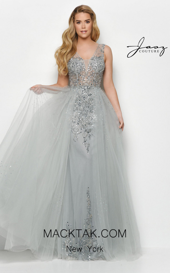 Jasz Couture 7123 Silver Front Dress