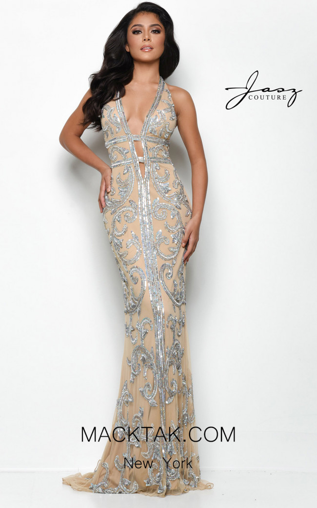 Jasz Couture 7124 Nude Front Dress